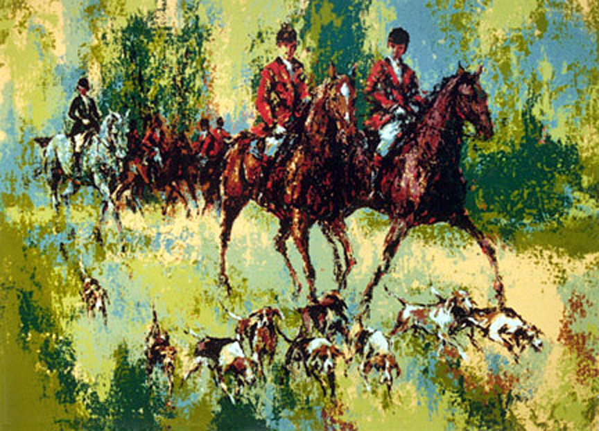 foxhunt serigraph by mark king alliance art publishing for sale prints paintings. Black Bedroom Furniture Sets. Home Design Ideas