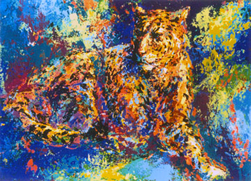 leopard serigraph by mark king alliance art publishing for sale prints paintings. Black Bedroom Furniture Sets. Home Design Ideas